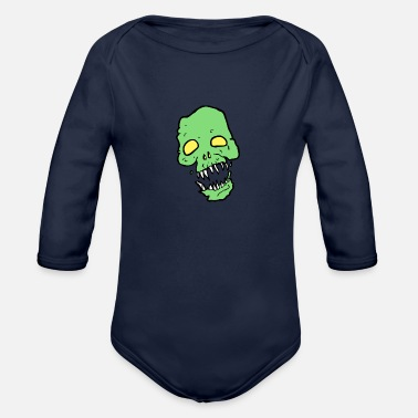 Scary Scary - Organic Long-Sleeved Baby Bodysuit