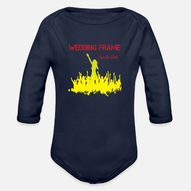 Wedding Party T-shirt wedding party - Organic Long-Sleeved Baby Bodysuit