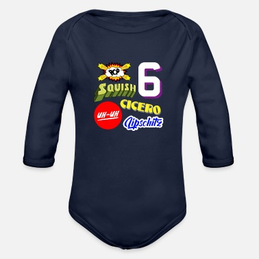Chicago Chicago - Organic Long-Sleeved Baby Bodysuit