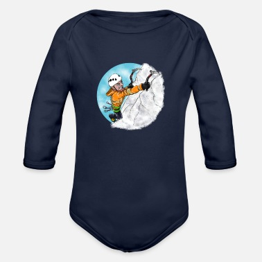Ice Ice Climber Man - Organic Long-Sleeved Baby Bodysuit