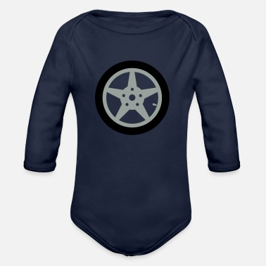 Car Tires Car tire - Organic Long-Sleeved Baby Bodysuit