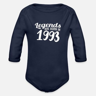 Birthyear 1993 Birthday Birthyear Christmas - Organic Long-Sleeved Baby Bodysuit