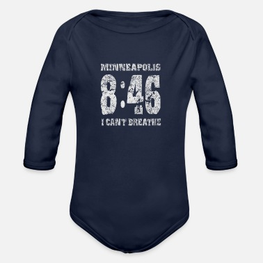 8 Seconds 8 MINUTES 46 SECONDS - Organic Long-Sleeved Baby Bodysuit