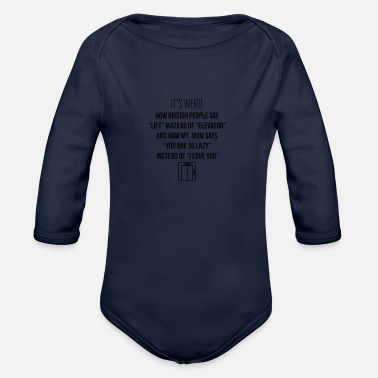 Lift Elevator Lift instead of elevator - Organic Long Sleeve Baby Bodysuit