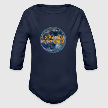 Stay Wild Moon Child 3 26 - Organic Long Sleeve Baby Bodysuit