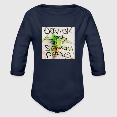 david has a small penis - Organic Long Sleeve Baby Bodysuit