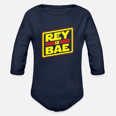 Rey Rey is bae - Organic Long-Sleeved Baby Bodysuit