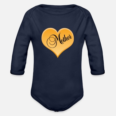 Mothers Day mother / Mothers Day - Organic Long Sleeve Baby Bodysuit