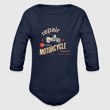 Motorcycle Repair - Organic Long Sleeve Baby Bodysuit