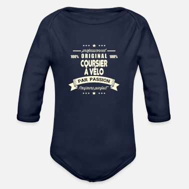 Courier Original bike courier - Organic Long Sleeve Baby Bodysuit