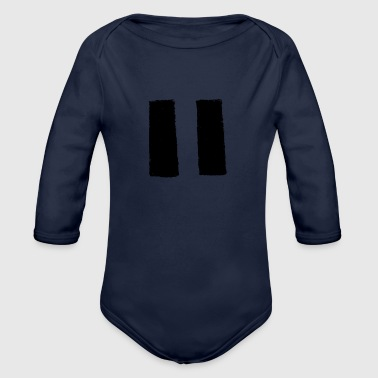 Pause for Percussion - Organic Long Sleeve Baby Bodysuit