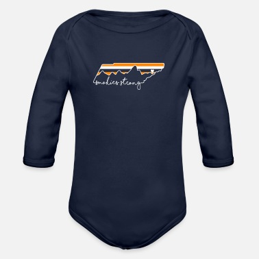 Mountains Smokies strong Gatlinburg t shirt - Organic Long-Sleeved Baby Bodysuit