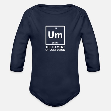 Um The Element Of Confusion - Organic Long-Sleeved Baby Bodysuit