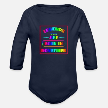 Born Legends legends are born F - Organic Long-Sleeved Baby Bodysuit
