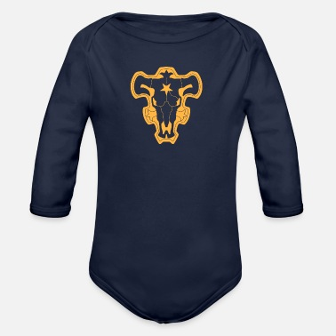 Capten Black Clover Black Bulls - Organic Long-Sleeved Baby Bodysuit