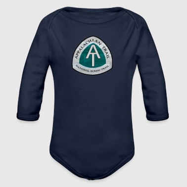 Rustic Rustic Appalachian Trail AT Logo - Organic Long Sleeve Baby Bodysuit
