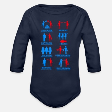 Socialists Capitalism Political Ideologies Economy Politics - Organic Long-Sleeved Baby Bodysuit