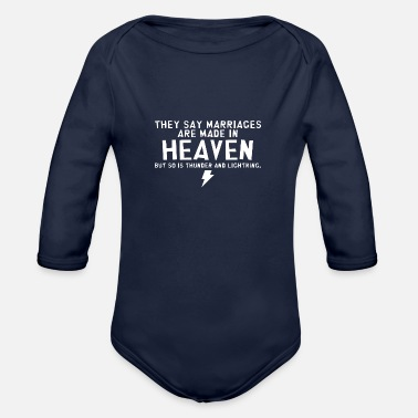 HEAVEN THUNDER - Organic Long-Sleeved Baby Bodysuit