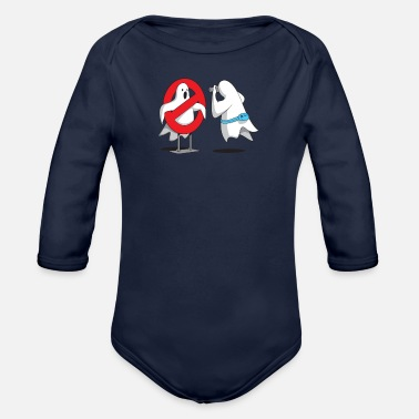 Tourist Ghost Tourists - Organic Long Sleeve Baby Bodysuit
