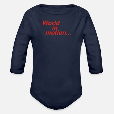 WORLD IN MOTION ENGLAND ITALIA 90 WORLD CUP FOOTBA - Organic Long-Sleeved Baby Bodysuit