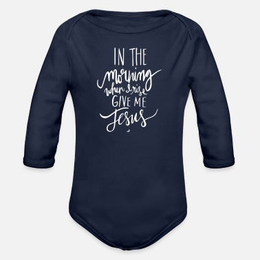 Morning In The Morning - Organic Long-Sleeved Baby Bodysuit