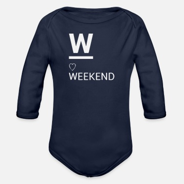 W is for weekend - Organic Long-Sleeved Baby Bodysuit