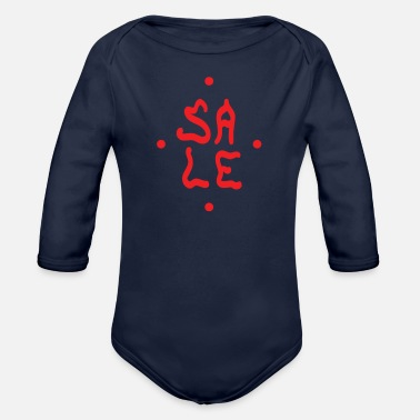 Sales Sale - Organic Long-Sleeved Baby Bodysuit