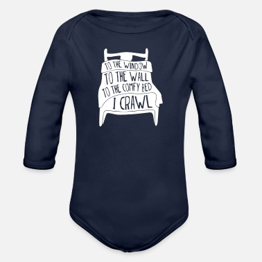 Windows To The Window To The Wall - Organic Long-Sleeved Baby Bodysuit