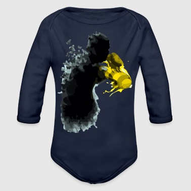 the butterflies and the gloves of stingers - Organic Long Sleeve Baby Bodysuit