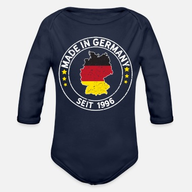 Munich Made In Germany Since 1996 Birthday Gift Idea - Organic Long-Sleeved Baby Bodysuit
