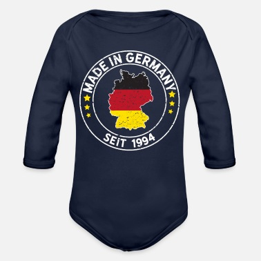 Munich Made In Germany Since 1994 Birthday Gift Idea - Organic Long-Sleeved Baby Bodysuit