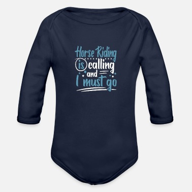 Horseman Cute Sweet Horsehoe Horse Riding Club Memes Gifts - Organic Long-Sleeved Baby Bodysuit