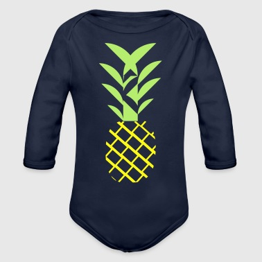 Pineapple flavor - Organic Long Sleeve Baby Bodysuit