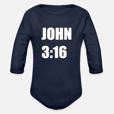 John JOHN - Organic Long-Sleeved Baby Bodysuit
