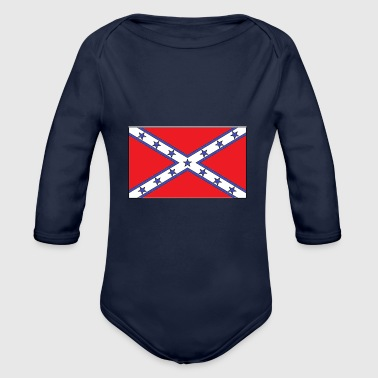 rebel flag - Organic Long Sleeve Baby Bodysuit