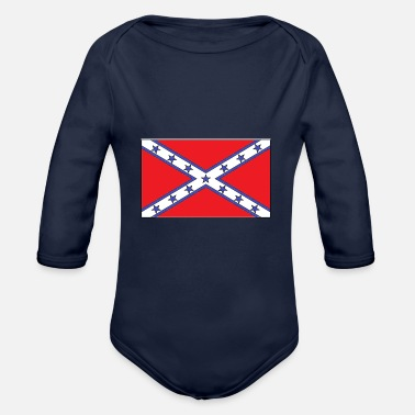 Rebel Flag rebel flag - Organic Long Sleeve Baby Bodysuit