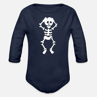Skeleton skeleton - Organic Long-Sleeved Baby Bodysuit