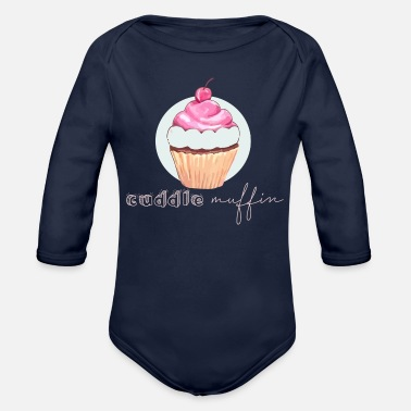 Cuddle cuddle muffin - Organic Long Sleeve Baby Bodysuit