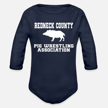 Neck red neck - Organic Long-Sleeved Baby Bodysuit