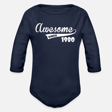 Awesome Since Awesome Since - Organic Long-Sleeved Baby Bodysuit