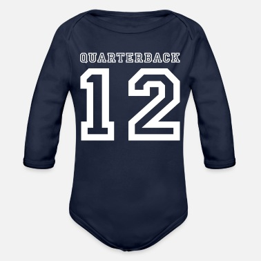 Quarterback quarterback - Organic Long-Sleeved Baby Bodysuit