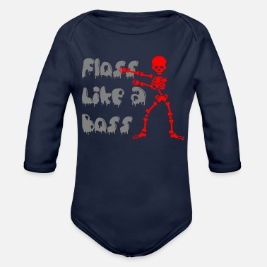 Floss Like A Boss floss like a boss - Organic Long-Sleeved Baby Bodysuit