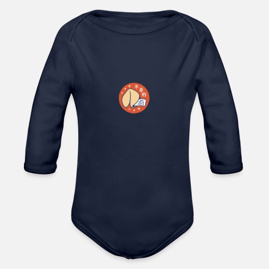 Movie Baby Clothing - Small Fortune - Organic Long-Sleeved Baby Bodysuit dark navy