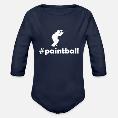 Paint Hashtag Paintball - Organic Long-Sleeved Baby Bodysuit