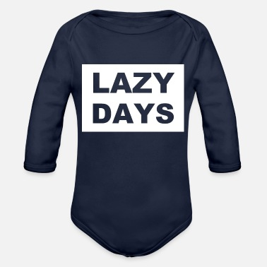 Potassium Cyanide Lazy Days - Organic Long-Sleeved Baby Bodysuit