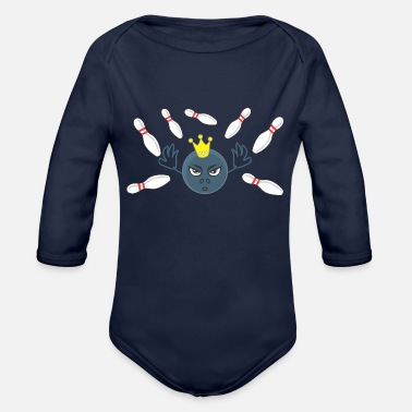 Funny Bowling Funny Bowling - Organic Long-Sleeved Baby Bodysuit