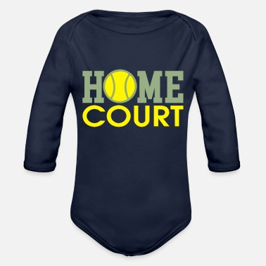 Court home court - Organic Long-Sleeved Baby Bodysuit