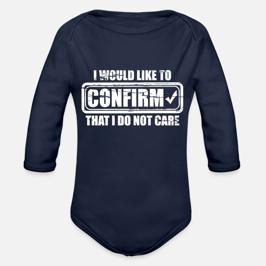Movie Baby Clothing - CONFIRM CARE - Organic Long-Sleeved Baby Bodysuit dark navy