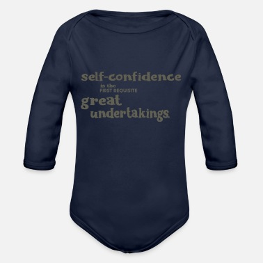 Self-confidence Self-confidence - Organic Long-Sleeved Baby Bodysuit