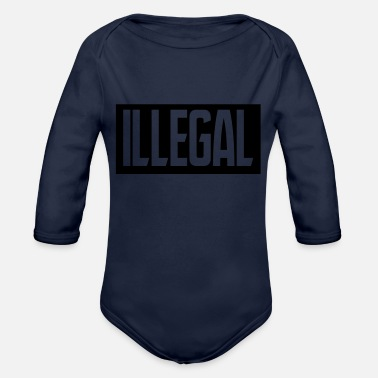Illegal illegal - Organic Long-Sleeved Baby Bodysuit